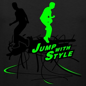 Oliv jump with style T-Shirts - Männer Premium Tank Top