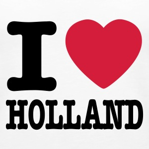 Hvit i love holland NO Topper - Premium singlet for kvinner