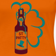 Orange st patty bottle (2c) Women's T-Shirts
