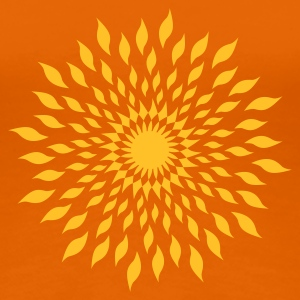 Orange Feuerring / wheel of fire (ii, 1c) T-shirts - Dame premium T-shirt