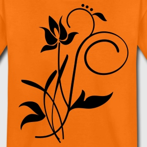 Orange Orchidee / orchid (2c) Kinder T-Shirts - Teenager Premium T-Shirt