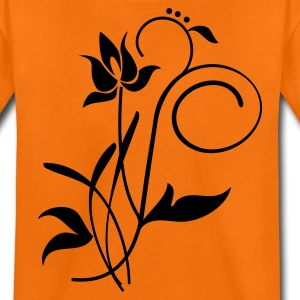 Oranje Orchidee / orchid (2c) Kinder shirts - Teenager Premium T-shirt