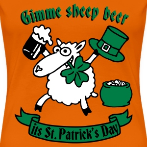 st_patricks_sheep T-Shirts - Women's Premium T-Shirt