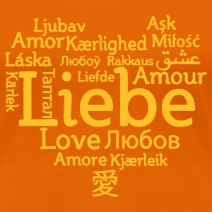 Naranja dorada Love international Camisetas - Camiseta premium mujer