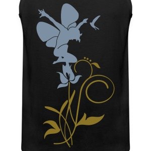 Black Orchidee / orchid (2c) Men's T-Shirts - Men's Premium Tank Top