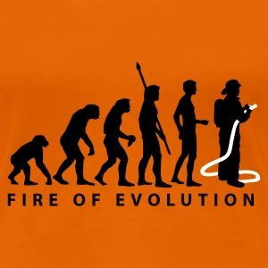 Orange evolution_feuerwehr_2c T-Shirts - Frauen Premium T-Shirt
