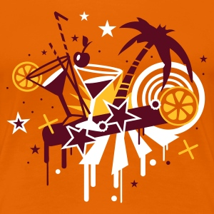 Orange cocktail_bar Women's T-Shirts - Women's Premium T-Shirt