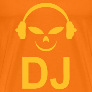 Orange doré DJ design T-shirts - T-shirt Premium Homme