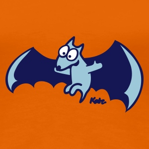 Oranje Flying Fox (c) T-shirts - Vrouwen Premium T-shirt