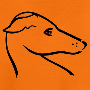 Orange Windhund-Kopf / greyhound head (2c) Kids' Shirts - Teenage Premium T-Shirt