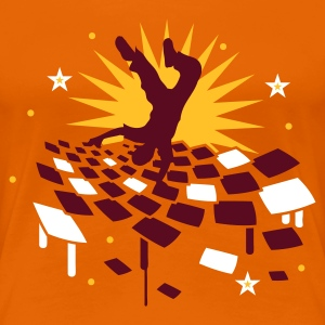 Orange Breakdancer Women's T-Shirts - Women's Premium T-Shirt