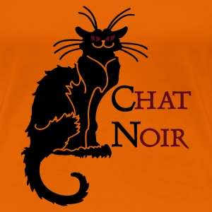 Goldorange chat noir 'n (text, 2c) T-Shirts - Frauen Premium T-Shirt