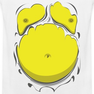 Komisk Fett Kropp Gul (Comic Fat Belly Yellow) - Premium singlet for menn