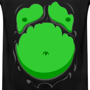 Komisk Fett Kropp Grønn (Comic Fat Belly Green) - Premium singlet for menn