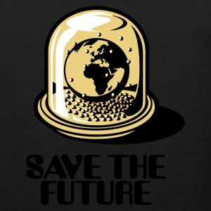 Olive Save the future Men's T-Shirts - Men's Premium Tank Top