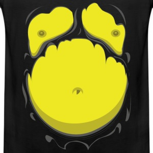 Tegneserie Fedt Mave Gul (Comic Fat Belly Yellow) - Herre Premium tanktop