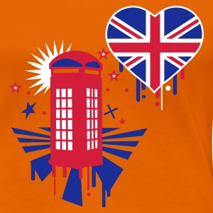 Orange england T-Shirts - Frauen Premium T-Shirt