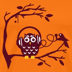 Golden orange Listen to music Men's T-Shirts