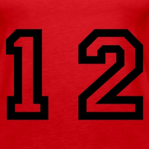 Red number - 12 - twelve Tops - Women's Premium Tank Top