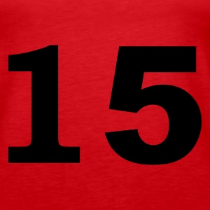 Red number - 15 - fifteen Tops - Women's Premium Tank Top