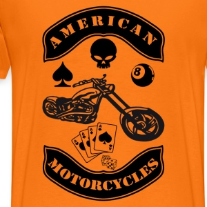 Orange doré motorcycles T-shirts - T-shirt Premium Homme