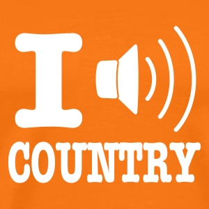 Orange doré I music country / I love country T-shirts - T-shirt Premium Homme