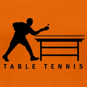 Goldorange table_tennis_b_1c T-Shirts - Frauen Premium T-Shirt