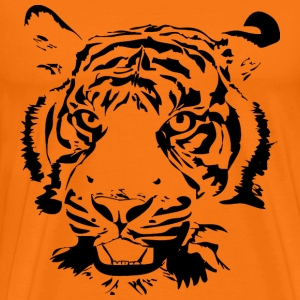 Golden orange Big Tiger Men's T-Shirts - Men's Premium T-Shirt