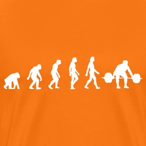 Golden orange Weightlifting Evolution (1c) Men's T-Shirts - Men's Premium T-Shirt