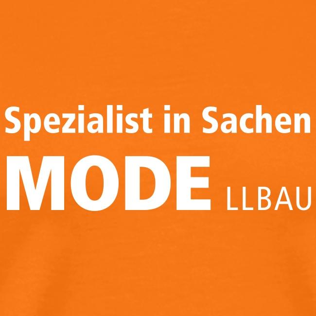 Spezialist in Sachen Mode(llbau) +Vereinslogo