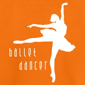 Orange ballet_dancer_b_1c Kinder T-Shirts - Teenager Premium T-Shirt