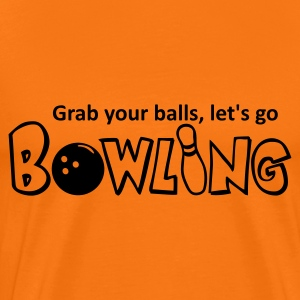 Orange doré Bowling - grab your balls! T-shirts - T-shirt Premium Homme