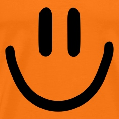 Golden orange :) smiley Men's T-Shirts