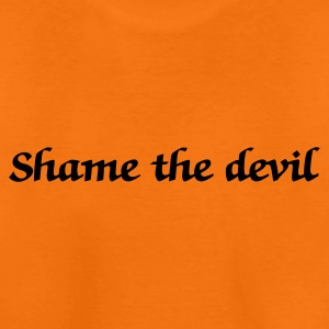 Orange shame the devil (1c) Kids' Shirts - Teenage Premium T-Shirt