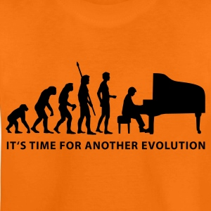 Orange evolution_pianist_b Kids' Shirts - Teenage Premium T-Shirt