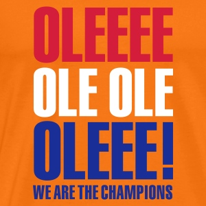 Goudoranje Ole ole, we are the champions T-shirts - Mannen Premium T-shirt