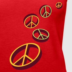 Red Peace sign Tops - Women's Premium Tank Top