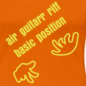 Goldorange Luftgitarre / air guitar (B, 1c) T-Shirts - Frauen Premium T-Shirt