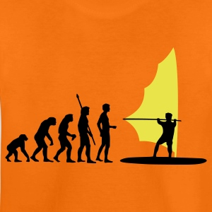 Orange evolution_windsurfer_2c Kids' Shirts - Teenage Premium T-Shirt