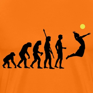 Golden orange evolution_volleyball_2c Men's T-Shirts - Men's Premium T-Shirt