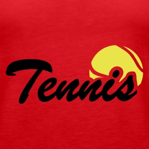 Rot Tennis Tops - Frauen Premium Tank Top
