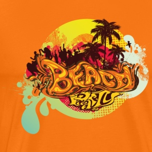 Goudoranje beach_party T-shirts - Mannen Premium T-shirt