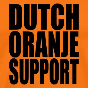 Golden orange Dutch oranje support Men's T-Shirts - Men's Premium T-Shirt