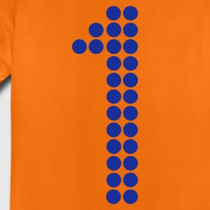 Orange 1 dots football / Punkte Fußball - eushirt.com Kinder T-Shirts - Teenager Premium T-Shirt