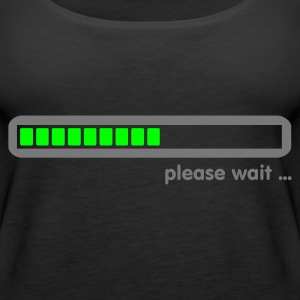 Zwart loading ... please wait (2c) Tops - Vrouwen Premium tank top