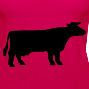 Pink Cattle Tops - Women's Premium Tank Top