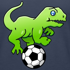 Petrol Fußball-Dino / sports dinos soccer (DDP) Tops - Women's Premium Tank Top