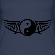 Motiv ~ Schulterloses Damen Shirt - YIN und YANG