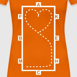 Golden orange Dressage Riding heart Women's T-Shirts - Women's Premium T-Shirt
