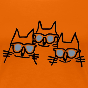 Orange cool_cats2 T-Shirts - Frauen Premium T-Shirt